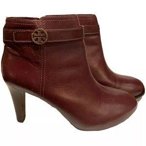 Tory Burch Brita Heel Booties Size 9.5